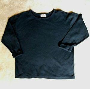 Vintage 1990's 3/4 sleeve black t shirt